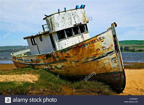 old boat for free old boat point reyes california stock photo royalty free