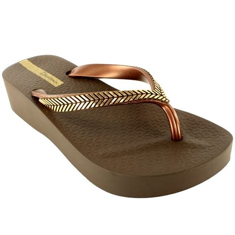 Sandal Wedges Flip Flop Kalp 5cm womens ipanema wedge slip on summer flip flop sandals uk 3 8 ebay