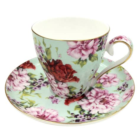 Flower Mug Spoon jsaron vintage flower tea coffee cup with