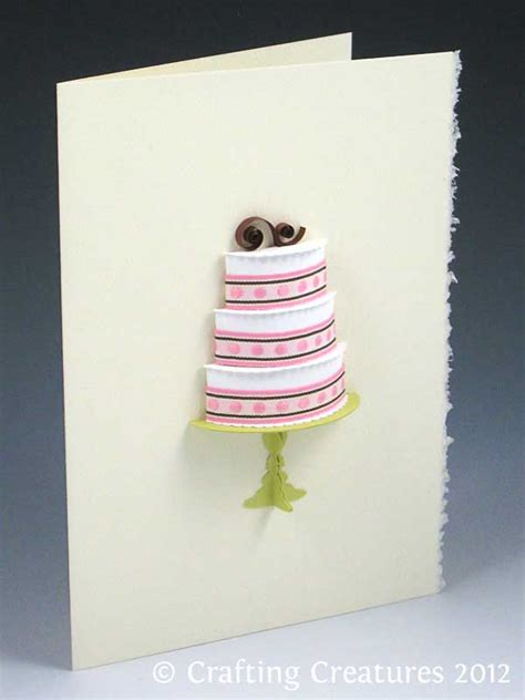 3d wedding cake card template 3d wedding cake card make the cut forum