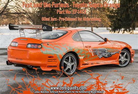 Fast And Furious Supra Kit by Fast And The Furious Toyota Supra Orange Pearl Paint 60ml
