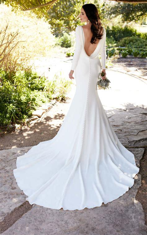 Bateau Wedding Dress by Sleeved Wedding Dress With Bateau Neckline Martina