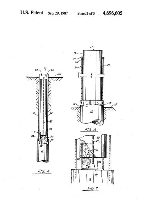 pile section patent us4696605 composite reinforced concrete and