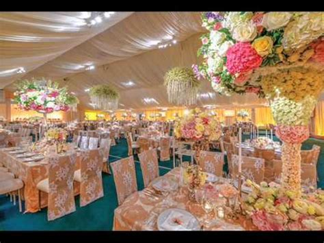 Sweet and Warm of Peach Wedding Decorations   YouTube
