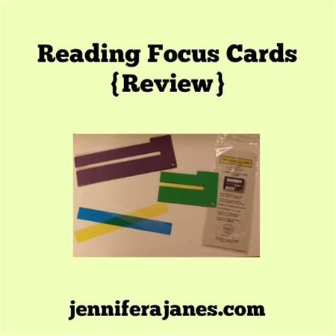 Reading Focus Card Template by Reading Focus Cards Review A Janes