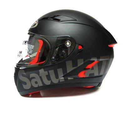 Helm Kyt Black Foto Helm Kyt Satu Hati Black Matte Edition Aksesoris
