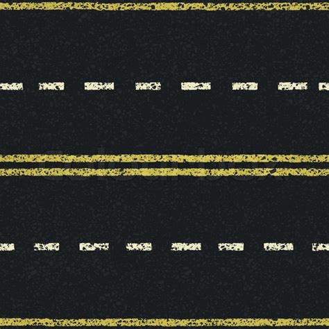pattern of yellow lines on the roadway road lines seamless pattern vector eps8 stock vector