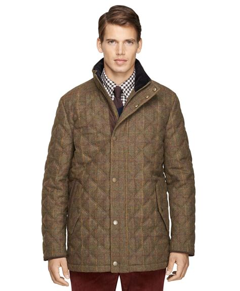 Brothers Quilted Jacket by Brothers Tattersall Quilted Jacket In Green