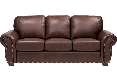couch to go 999 99 balencia dark brown leather sofa classic