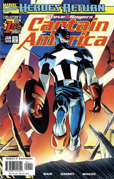 Captain America Marvel America 1 captain america vol 3 1 marvel database fandom powered