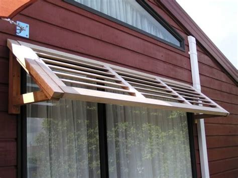 wood awning windows exterior window shade google search corrigated metal