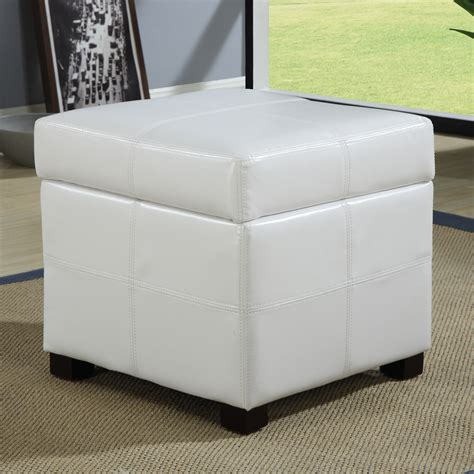 storage ottoman white white storage ottoman with tray simpli home oregon