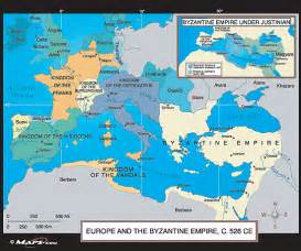 The Byzantine Empire Russia And Eastern Europe Outline Map by Europe The Byzantine Empire Map C 526 Ce By Maps From Maps World S Largest Map Store