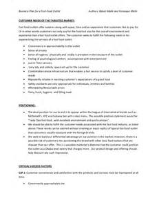 food business plan template business plan of fast food restaurant