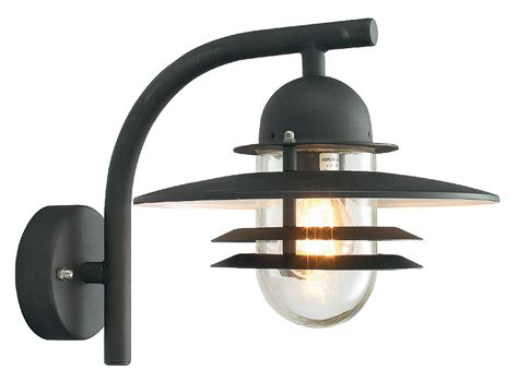 norlys oslo art deco style black garden outdoor wall light