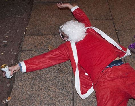 hic hic ho drunk santa lands in casualty real life