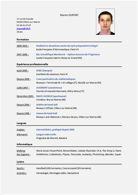 Modèle Cv by Comment Faire Un Cv Mod 195 163 194 168 Le Resume Template Cover