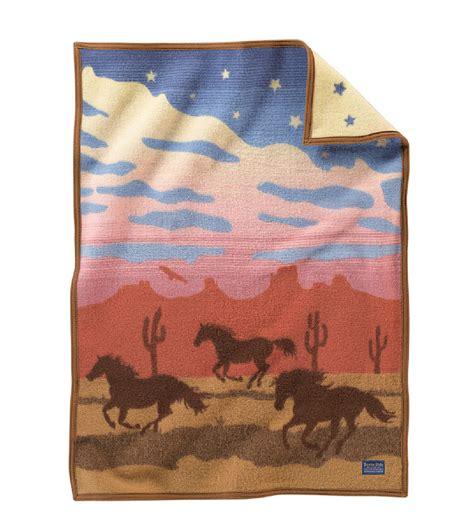 Pendleton Crib Blanket by Pendleton 174 Horses Crib Blanket