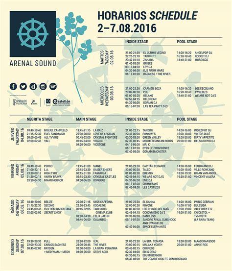 comprar entradas arenal arenal sound 2016 cartel entradas horarios
