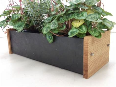 Slate Planter Boxes by Window Herb And Flower Planter Box Oak And Slate