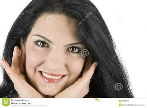 Hera Sourire De Bonheur Lipstick beau sourire de femme photo libre de droits image