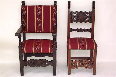 upholstery in spanish two pair of antique spanish dining chairs for sale