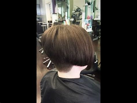 buzzed nape bob makeover hair makeover long to bob haircut with a buzzed nape