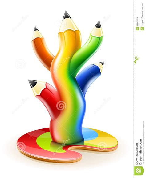 imagenes artisticas y que representan l albero di colore disegna a matita il concetto creativo