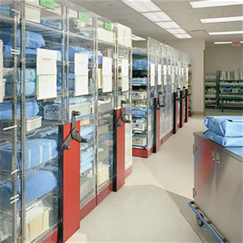central supply room surgical supply storage solved mobile shelving high density storage industrial shelving and