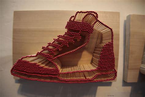 Korek Api Sepatu Sneker Gantungan Kunci batang batang korek api ini menjadi benda benda karya seni yang keren satu jam