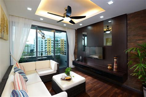 Living Room Decor by House Tour This Two Bedroom Executive Condominium Is