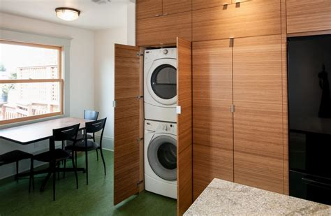 concealed washer and dryer how to optimize stacked washers and dryers for a perfect combo