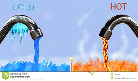No Water In Kitchen Faucet by And Cold Stock Illustration Image Of Fire Flow