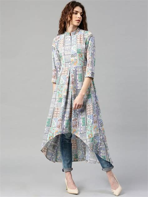 kurta pattern jeans jeans with long kurti design ideas for girls 9