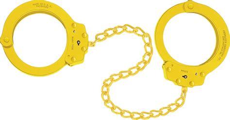 yellow handcuffs leg irons peerless handcuff company