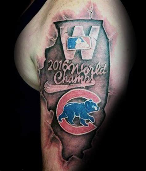 chicago cubs tattoo ideas 80 chicago cubs designs for baseball ideas