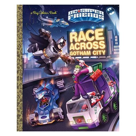 batman dc friends golden book dc friends race across gotham city big golden book