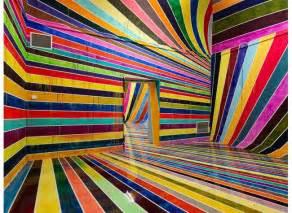 rainbow room markus linnenbrink debuts disorienting rainbow room in germany cube breaker