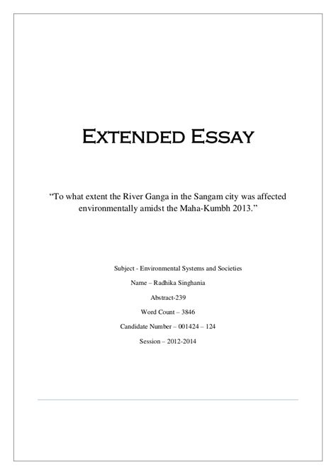 Extended Essay Format by History Extended Essay Exle 19 Nardellidesign