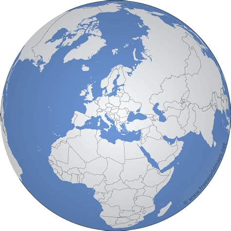 europe globe map europe outline maps by freeworldmaps net