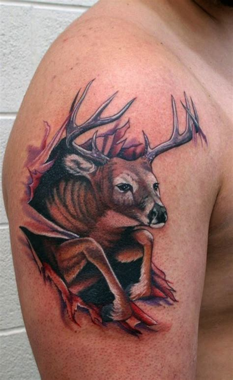 deer hunter tattoo design deer tattoos ideas pictures for
