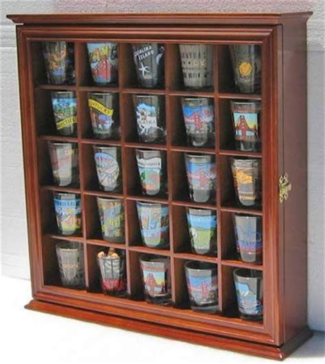 shot glass holder cabinet shot glass display case wall curio cabinet glass door