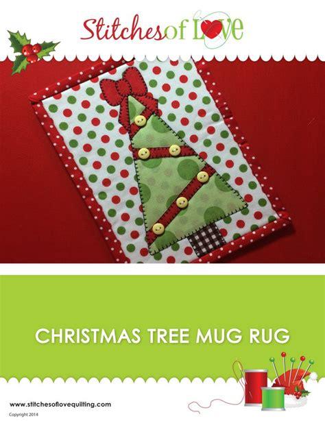christmas pattern laser christmas tree mug rug laser cut kit stitches of love