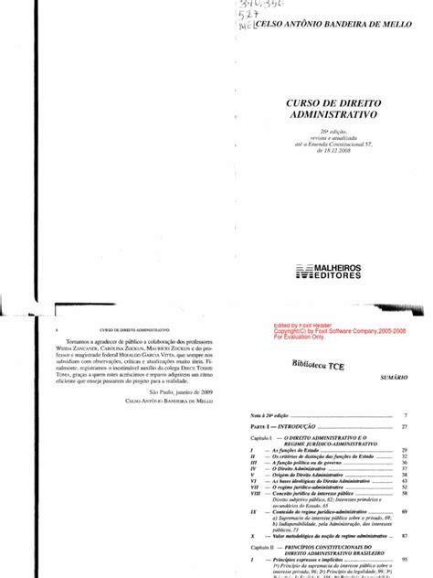 Curso de Direito Administrativo - Celso Antônio Bandeira