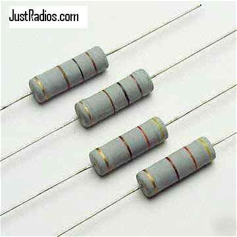 resistor lead size 2 watt fp metal oxide resistor kit 5 each of 84 sizes