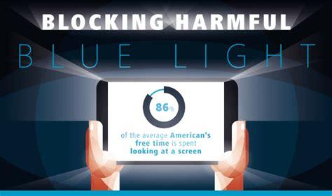 blue light filter for tv blocking harmful blue light infographic visualistan