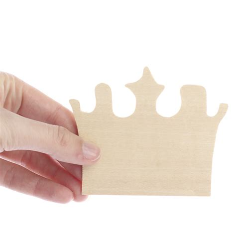 craft wood crown unfinished wood crown cutout wood cutouts unfinished