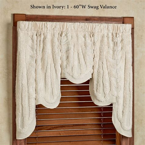 Window Swags And Valances promenade chenille swag window valance