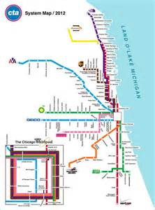 Chicago Cta Map by Chicago Transit Authority Map Chicago Pinterest