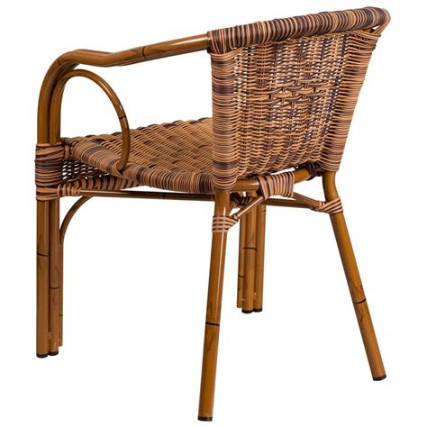 aluminum bamboo patio chair  brown rattan